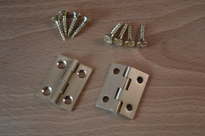 Solid brass butt hinge pair