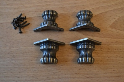 Box Feet - Antique Bronze Finish - (4's)