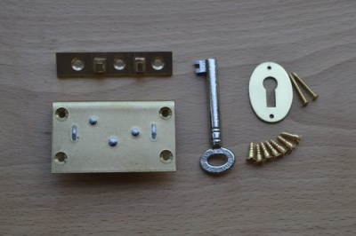 2'' Solid Brass Box Lock Set