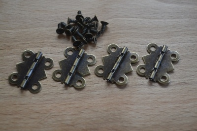 Box Hinges Antique Bronze (4's)