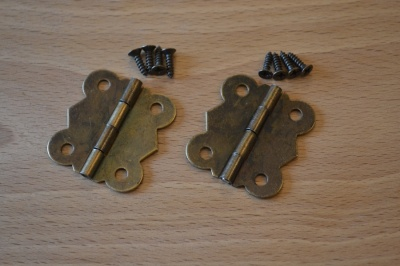 Box Hinges Antique Bronze (2 pack)