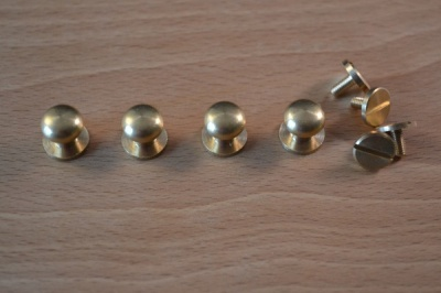 Solid Brass Small Knob Set