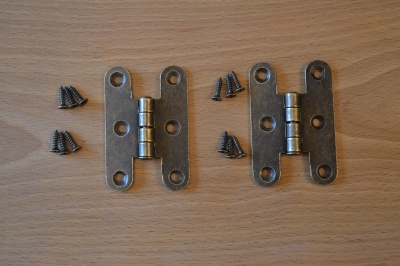 Antique Bronze Parliament Style Hinges (2)