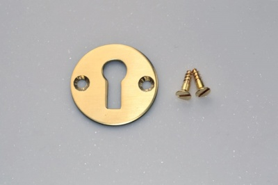 Stamped Brass Escutcheon with brass screws