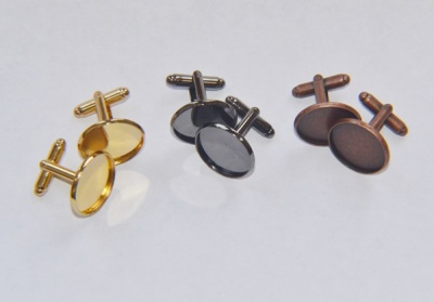 18mm Cufflink Blanks (pairs)