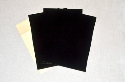 Self Adhesive Flocking sheets (Black A4 Size x 4 sheets)