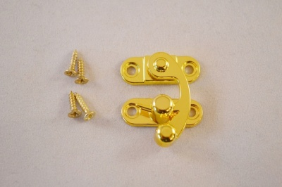 Gold plate box clasp spring action