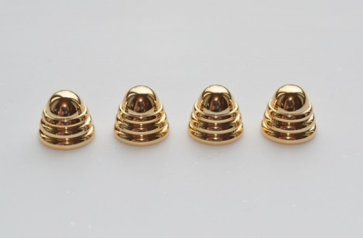 Chrome / Gold End Caps / finials (4 per pack)