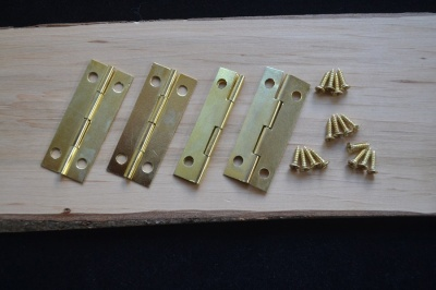 Brass plated Box Hinges - pack of 4