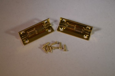 Gold Plated 35mm STOP Hinges (pair)