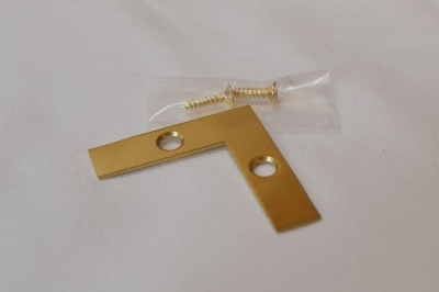 Polished Brass Flat Corner Brace 1½''