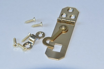 Solid Polished Brass Hasp & Staple Set
