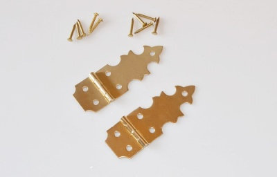 Small Decorative Half Leaf Strap Hinge (pair)