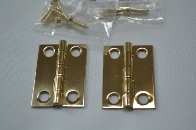 1½'' Polished Solid Brass Hinges (pair)