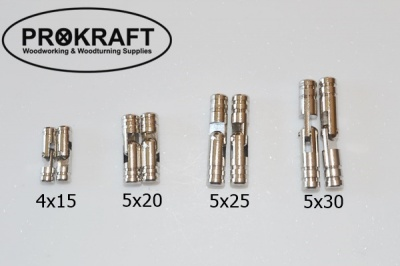 Solid Brass Barrel Hinges - Nickel Plated (pairs)