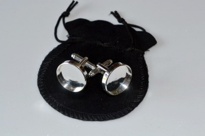 Silver Plated Cufflink Blanks