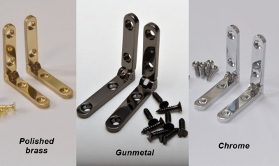 Premium Solid Brass Side Rail Hinges (pair)