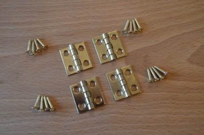 Solid Brass ¾'' Hinge pack (4 hinges)