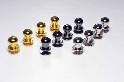 Solid Brass Small Knob Set - Choice of finish & fitting