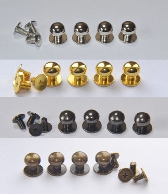 Solid Brass 10mm Knob Set (4 per set)