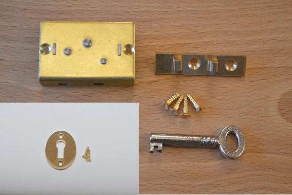 1 brass box lock set prokraft