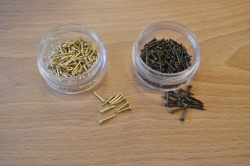 Escutcheon Pins -10mm x 1mm - approx 100/pot