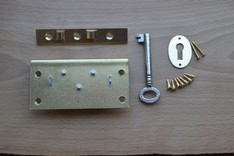 3'' Solid Brass Box Lock Set