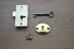 2'' Solid brass cupboard lock set