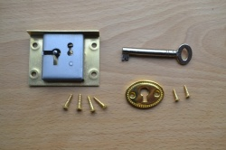 2'' Solid brass drawer / till lock