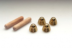 Solid Brass End Caps / Feet (4-pack)