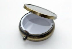 Mint / Pill Box Blank Antique Bronze