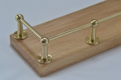 Fiddle Rail Range Solid Brass