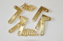Brass Offset Knife Hine / Pivot Hinge Set of 4 Hinges