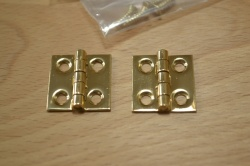 ¾'' Solid Polished Brass Hinges (pair)