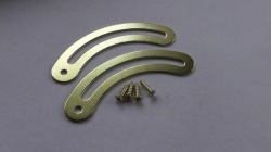 Brass Plate Medium Lid Stays / Braces (pairs)