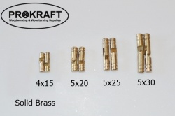 Solid brass barrel hinges (pair)