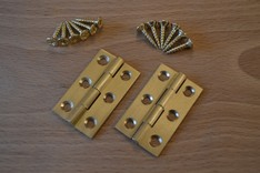 1½'' Solid Brass Butt Hinges (pair)